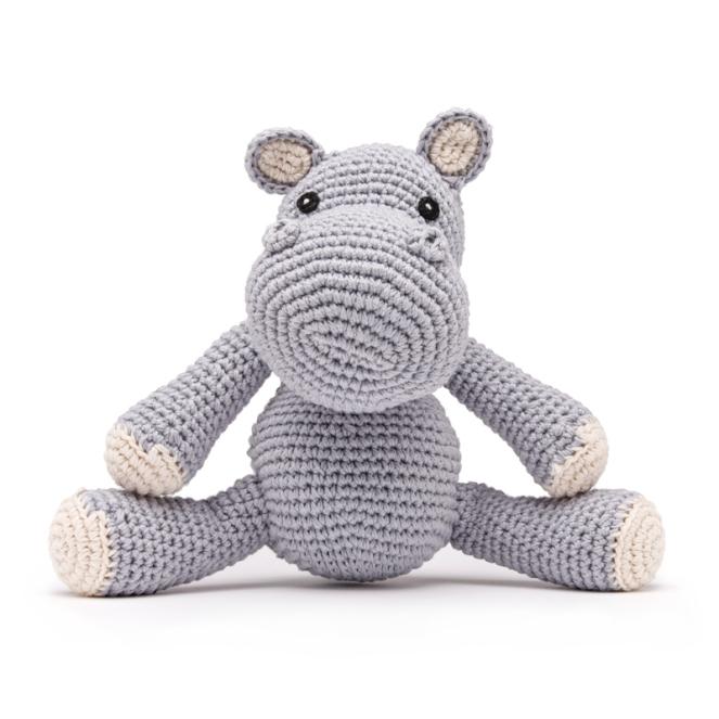 Hipopótamo - crochê