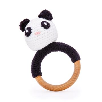 Chocalho Crochet Panda - Doudou