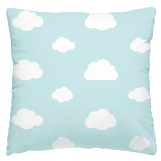 Almofada nuvem fundo azul