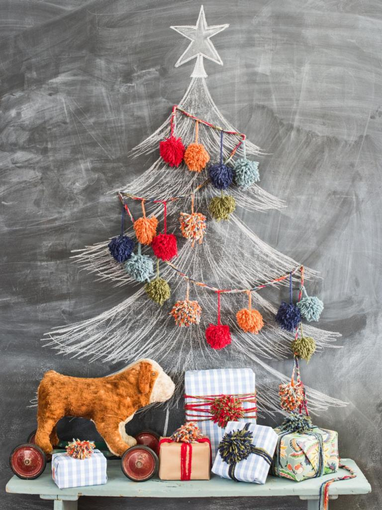 19.-Deck-The-Tree-With-Yarn-Pom-Poms-1